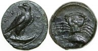 Ancient Greece  425-400 BC. EF SICILY - AKRAGAS, Æ Onkia/CRAB 380,00 EUR