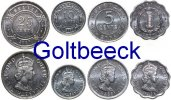 BELIZE    Set of 4 coins 2000+, 1, 5, 10, 25 Cents UNC 3,00 EUR 