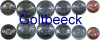 BOLIVIA    Set of 6 coins 2008/10, 10, 20, 50 C., 1, 2, 5 Bolivianos UNC 7,00 EUR 