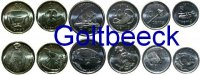 FIJI    Set of 6 coins 2012, 5, 10, 20, 50 Cents, 1, 2 $ UNC 9,00 EUR 