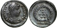 Roman Empire  VALENS, AR Siliqua, Antioch/WREATH