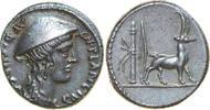 AR Denarius 55 BC Republican Cn. PLANCIUS, Rome/GOAT vz  450,00 EUR free shipping