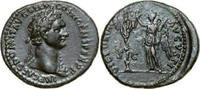 Æ As 95 - 96 AD Imperial DOMITIANUS, Rome/VICTORY & TROPHY vz-  380,00 EUR free shipping