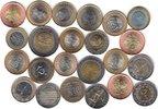 23x DIFFERENT UNC BI-METALLIC COINS unz  76,00 EUR  +  12,00 EUR shipping