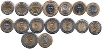 NORTH & SOUTH AMERICA 16x DIFFERENT UNC BI-METALLIC COINS unz  40,00 EUR  +  12,00 EUR shipping