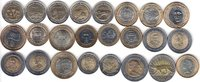NORTH & SOUTH AMERICA 24x DIFFERENT UNC BI-METALLIC COINS unz  65,00 EUR  +  12,00 EUR shipping