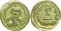 AV SOLIDUS 642 - 647 AD Byzantine CONSTANS II, Constantinople/CROSS   590,00 EUR free shipping