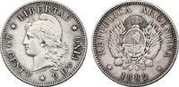 20 Centavos 1882 Argentinien  ss  25,00 EUR incl. VAT.,  +  9,90 EUR shipping