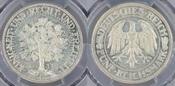5 RM 1932-G Weimarer Republik Eichbaum fast Stgk., PCGS MS64