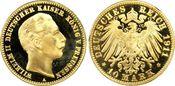 10 RM 1911-A Kaiserreich Preussen Wilhelm ...