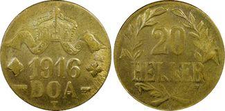 20 Heller 1916-T Deutsch-Ostafrika Kolonia...