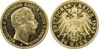 20 RM 1893-A Kaiserreich Preussen Wilhelm II PP-, PCGS PR62 CAM  2950,00 EUR gratis verzending