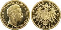 20 RM 1900-A Kaiserreich Preussen Wilhelm II PP-, PCGS PR63 CAM  3475,00 EUR gratis verzending