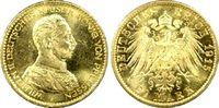 20 RM 1915-A Kaiserreich Preussen Wilhelm II fast Stg., PCGS MS64  3975,00 EUR gratis verzending