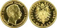 20 RM 1888-A Kaiserreich Preussen Wilhelm II PP-, PCGS PR63  2375,00 EUR gratis verzending