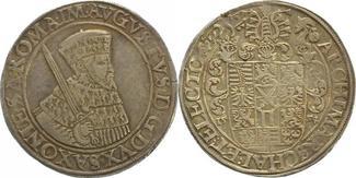 Taler 1554 Sachsen-Albertinische Linie Aug...