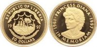 Liberia 20 Dollars  Gold Republik seit 1822.