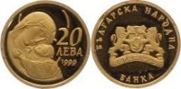 Bulgarien 20 Leva  Gold Republik seit 1991.