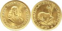 2 Rand Gold 1974 Südafrika Republik 1960. Vorzüglich-Stempelglanz  295,00 EUR  +  5,00 EUR shipping