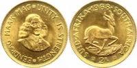 2 Rand Gold 1968 Südafrika Republik 1960. Vorzüglich  300,00 EUR  +  5,00 EUR shipping