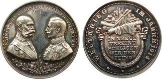Medaille 1914 erster Weltkrieg Silber Waff...