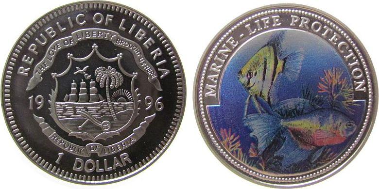 Kn skalar und kampffisch farbm nze 1 dollar 1997 liberia for Kampffisch shop