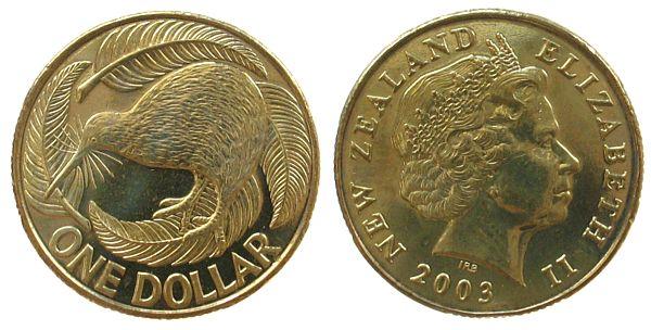 Neuseeland - New-Zealand AlBr Kiwi 1 Dollar 2003 unc