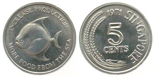 singapur   singapore al fao 5 cents 1971 unc