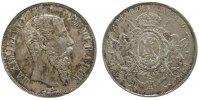 Mexiko 1 Peso Ag Maximilian, Mo (Mexico City), Randfehler, fleckig