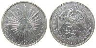 Mexiko 1 Peso Ag Mo-AM, feiner Kratzer (Adlerseite)