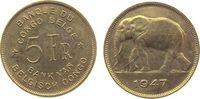 5 Francs 1947 Belgisch Kongo Me Elefant, etwas fleckig, kleiner Kratzer... 17,00 EUR  +  8,00 EUR shipping