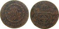 80 Reis 1831 Brasilien Ku Petro II, R schön  8,50 EUR  +  8,00 EUR shipping