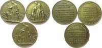 Weimarer Republik 3 x Jeton Messing Not und Teuerung 1. Nov. + 15. Nov. + 1. Dez., 3 Jetons, auf die Inflati