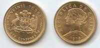 20 Pesos 1976 Chile M#3362 - Gold unzirkuliert  170,00 EUR  +  6,60 EUR shipping