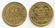Deutsches Reich Hamburg 10 Mark M#3367 - Deutsches Reich Hamburg 10 Mark 1905 J Gold