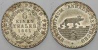 Anhalt-Bernburg 1/6 Taler Alexander Carl 1834-1863