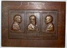 Einseitige Bronzegussplakette 1923 Frankfurt-Stadt  Auf Holz montiert. ... 275,00 EUR  Excl. 7,00 EUR Verzending