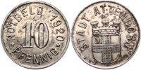 10 Pfennig 1920 Attendorn  Vorzüglich  185,00 EUR  excl. 7,00 EUR verzending