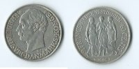 Dänemark 2 francs/ 40 cents 1907 SS Danish Virgin Islands 292,00 EUR free shipping