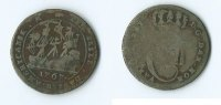 Dänemark 12 skilling 1767 SGE Danish Virgin Islands 45,00 EUR free shipping