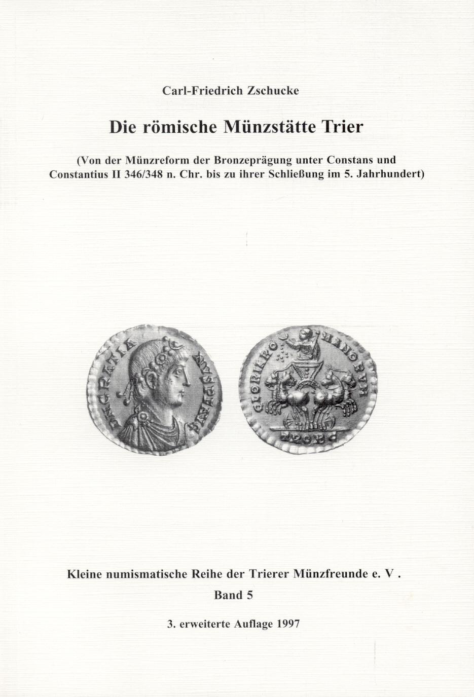 livres sur le monnayage de Trêves Trier_zschucke_