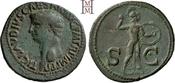 As 41-54 n. Chr. Römische Kaiserzeit Claudius 41-54. Grünbraune Patina, gutes sehr schön