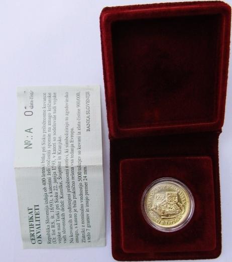 5000 tolar silver coin: