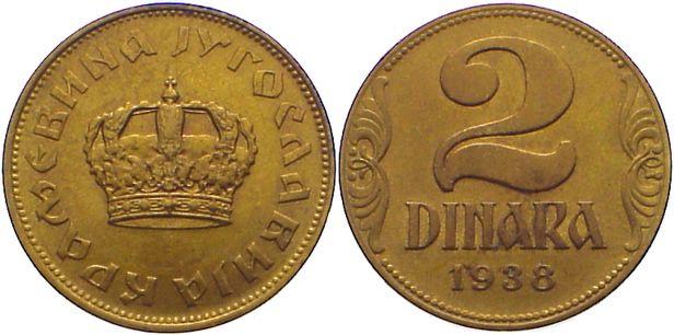 2 dinara 1938 080707009bz