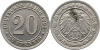 20 Pfennig 1892  E Kleinmünzen  Fleck, vorzüglich  130,00 EUR
