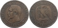 Cu 10 Centimes 1855  K Frankreich Napoleon III. 1852-1870. fast sehr sc... 30,00 EUR  +  4,50 EUR shipping