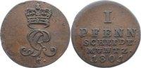 Cu Pfennig 1801  C Braunschweig-Calenberg-Hannover, ab 1692 Kftm. Han G... 20,00 EUR  +  4,50 EUR shipping