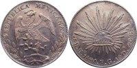 8 Reales 1890 Mexiko Zweite Republik seit 1867. leicht gereinigt, fast ... 345,00 EUR  +  4,50 EUR shipping