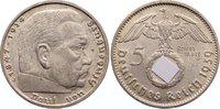 Drittes Reich 5 Reichsmark Kursmünzen 1933-1945.