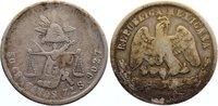 50 Centavos 1880 Mexiko Zweite Republik seit 1867. fast sehr schön  20,00 EUR